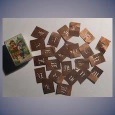 Miniature Litho Box Container Doll Copper Stencils Accessory FREE sHip