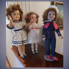 Three Vintage Shirley Temple Dolls