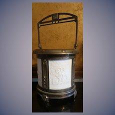 Rare Germany 19th c. Lithophanes Teawarmer 4 Panels