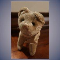 Straw Filled Old Vintage Puppy Dog
