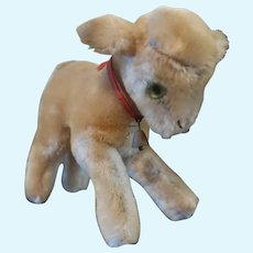 Steiff Lamby With Ear Button And Partial Tag