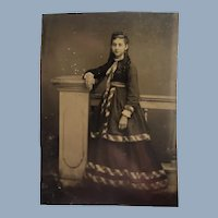 Rare Tintype Pregnant Young Lady