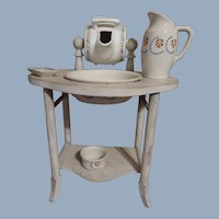 Fabulous French Toilette Barrel Table With Accessories