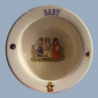 Adorable Baby Cereal Bowl Made in  Czechoslovakia