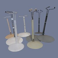 Set of Eight (8) Metal Doll Stands Medium
