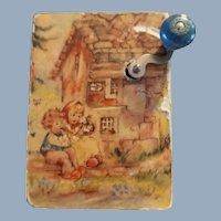 Hand Held /Hand Crank Music Box Children Switzerland Miniature