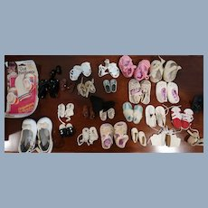 Lot of 27 Pairs Of Vintage Doll Shoes