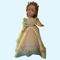 "14"" Unmarked Vintage Hard Plastic Doll"