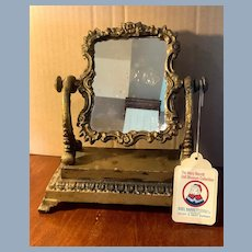 Beautiful Swivel Ornate Mirror Mary Merritt Doll Museum Collection