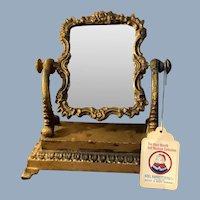 Beautiful Swivel Ornate Mirror Mary Merritt Doll Museum Collection