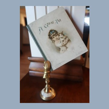 "Ernest Nister Miniature Book ""A Great Pet"""