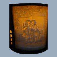 Rare German 19th C. Lithophanes 4 Panels Teawarmer