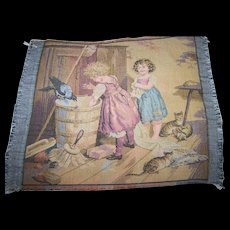 Beautiful French Tapestry Children/Kittens Doll Accessory