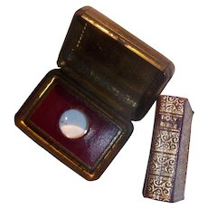 Antiques Miniature Bible With Magnifying glass