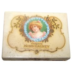 Fabulous Boxed Jergens Miss Dainty Cologne/Powder For Childs/Antique Doll 1915 Proprietary Stamp On Box