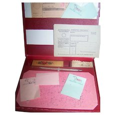 Writing Set For Your Vintage/Antique Doll Accessory