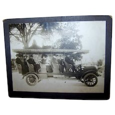 Manhattan Fringed Touring Car Early 1900's Cabinet Card