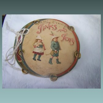 Ernest Nister Miniature Round Jinks And Joys Birthday Book RaRe
