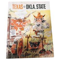 Texas vs Oklahoma State Program Austin, Texas October 1968