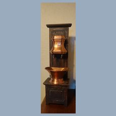 Antique French Copper Hanging Water Fountain With A Lavabo
