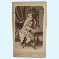 CDV Girl With China Head Doll FReE ShIP UsA