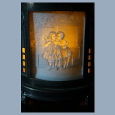 Gorgeous Candle Light 4 Panel Curved Lithophane
