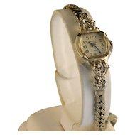 Vintage 14 K white gold Cornell Ladies Waist Watch
