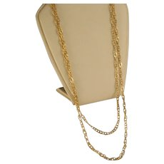 Vintage 14 K Yellow Gold 36 inch Double link Chain Necklace