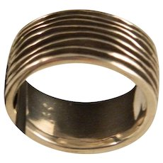 Sterling Silver Heavy Wide Band Size 9.5