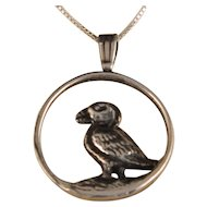 Sterling Silver Walking Bird Pendant and Chain