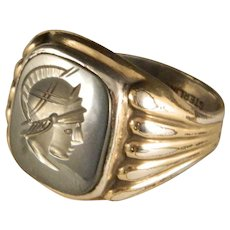 Vintage Art Deco Era Mans Intaglio Ring Size