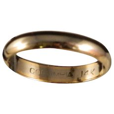 Vintage 14 K Gold Two Tone Wedding Band