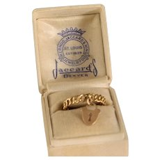 intage 1930's  Rose Gold Charm Ring
