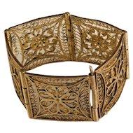 Vintage 1942 Brass India handcrafted Bracelet