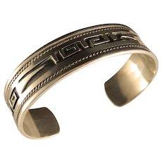 Vintage Beautiful Designed Taxco Sterling Silver Cuff Bracelet