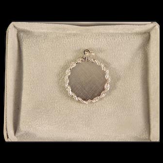 Vintage Sterling Silver Signet Pendant