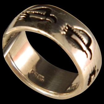 Vintage Peyote Bird Sterling Silver Ring