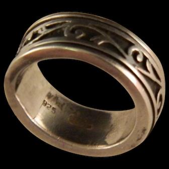 Vintage Sterling Silver Spinner Ring Size 6
