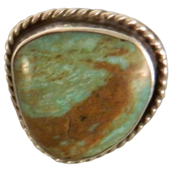 Vintage Southwest Navajo Sterling Silver Royston Turquoise Ring
