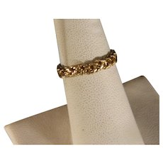 Vintage 14 K Yellow Gold Braided Style Band