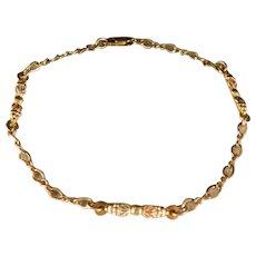 Vintage Black Hills 10 K Gold Link Bracelet 7.25 inch