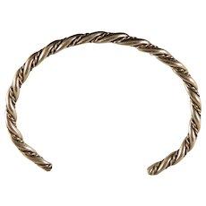 Vintage Navajo Sterling Silver Twist  Bracelet