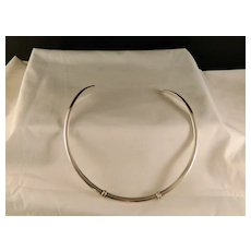Vintage Neck Collar Sterling Silver Choker
