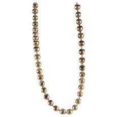Vintage Sterling Silver Bead Chain Necklace 20 inch.
