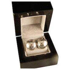 Vintage Engraved Sterling Silver Post Earrings