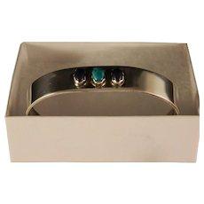 Vintage Southwest Sterling Silver Turquoise Lapis Cuff Bracelet