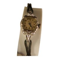 Vintage 1950s Lady Bulova wrist watch