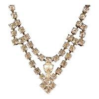 Vintage Rhinestone Necklace 16 in. Choker