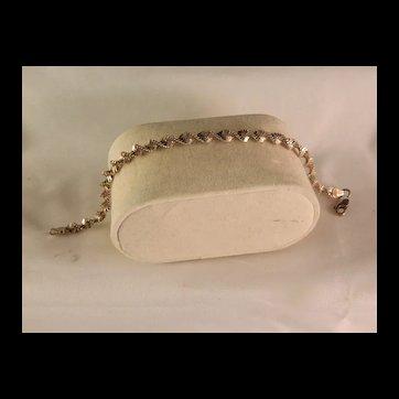 Vintage Sterling Silver Twist Bracelet 7 in.