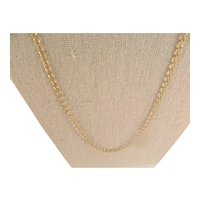 Vintage 14 K Gold Filled Cable Link Necklace Chain 24 In.